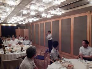 平成26年度 懇親会の様子(中山広島工業大学名誉教授)