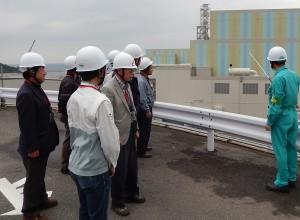 島根原子力発電所構内での見学